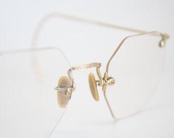 Vintage Rimless Eyeglasses 37