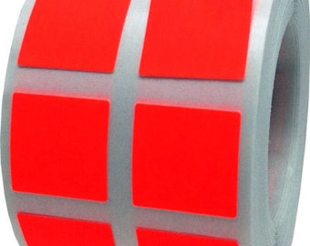 """1,000 Fluorescent Neon Red Stickers 