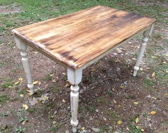 SOLD: Shabby Chic Farm Table (4 ft)