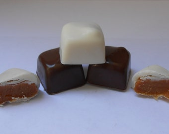 White and Milk Chocolate Caramels