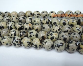 "15.5"" 8mm/10mm Natural dalmation jasper  round beads, grey beige color DIY beads, gemstone wholesale, natural leopard stone,dalmatian jasper"