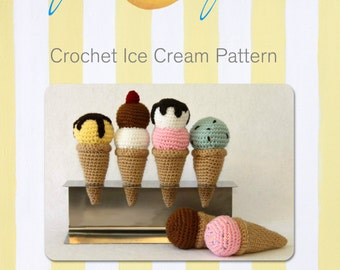 Fun Crochet Ice Cream/Rattle pattern