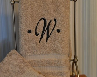 Monogrammed Towel With Wash Cloth