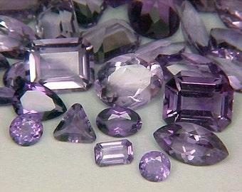Premium Loose Mixed Faceted Amethyst Gemstones Parcel Lot ~ BUY 2 GET 1 FREE #1216.10