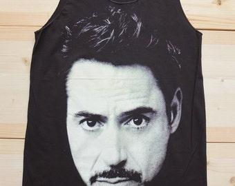 Robert Downey Jr. Actor Movie Film Fashion T-Shirt Vest Tank Top
