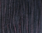 Hand dyed PENCIL ROVING FIBER. Ideal for Spinning Felting Weaving Dreads. Pin Drafted Pure Wool Combed Top Almost Black by Living Dreams 4oz