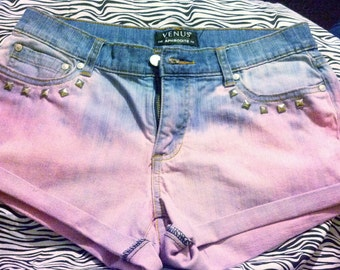 Pink Ombre Venus Shorts size 6 with studded pockets