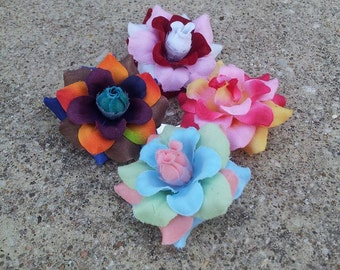 Flower Hair Clips/ Flower Clip/ Hair Clip