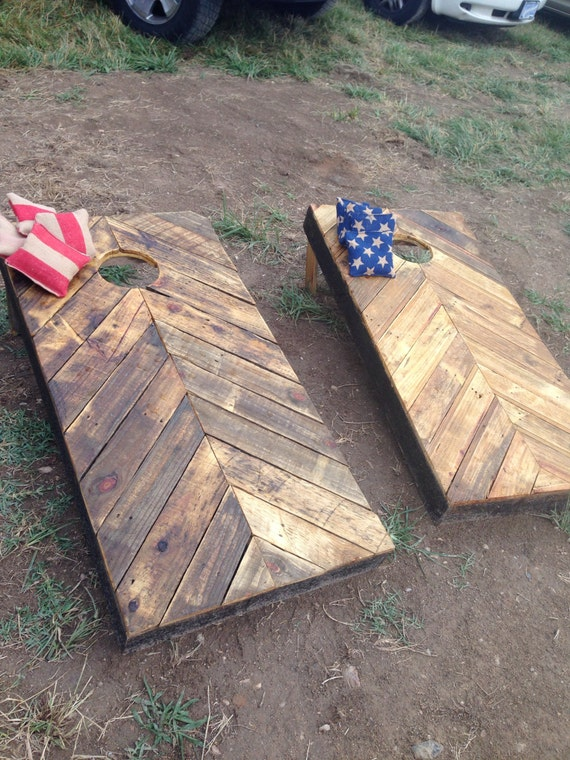 Items Similar To Rustic Corn Hole Boards Made From