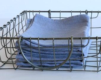 Heavy Linen Kitchen Towel / Dish Towel - Sky (Light Blue)