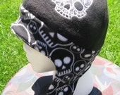 Reversible Skull Print Fleece Ear Flap Hat