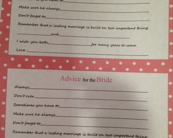 Cute Advice Card for Bride-to-Be