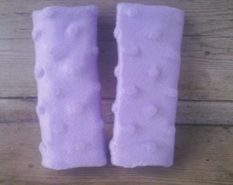Lavender Minky Infant/Toddler Car Seat Strap Covers - Reversible