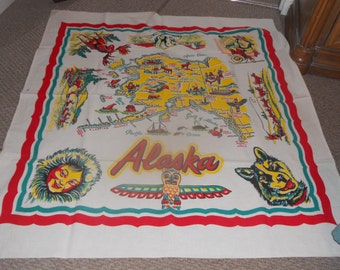Vintage Alaskan Tablecloth