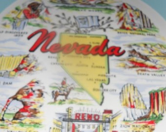 Vintage 1950's Nevada State Plate