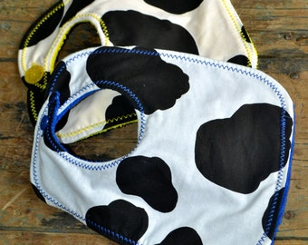 Cow Print Bibs-Multiple Colours Available