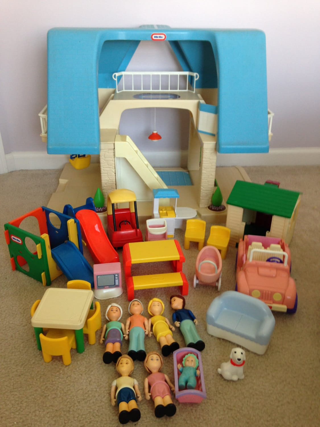Vintage Little Tikes Dollhouse Furniture by TrendyfedsTreasures
