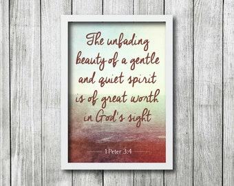 INSTANT DOWNLOAD - 1 Peter 3:4 Print