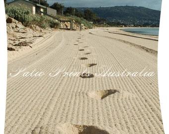 Footprints, original photograph printed on aluminium panel, 100% weather proof, outdoor artwork