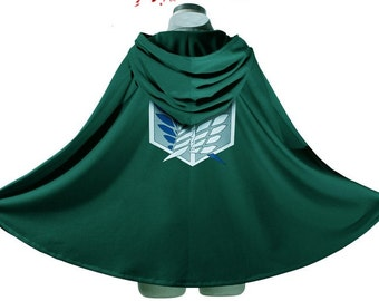 New Attack on Titan Shingeki no Kyojin Recon Corps Cloak - Recon corps or Training corps ----- Eren Mikasa Levi Cloak Costume Cosplay