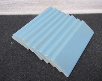 Lot of Blue Ceramic Tile Edging 9 total