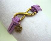 Infinity Bracelet Karma Bracelets Mens Handmade Wedding Gift Leather Friendship Jewelry Charm BFF Gift