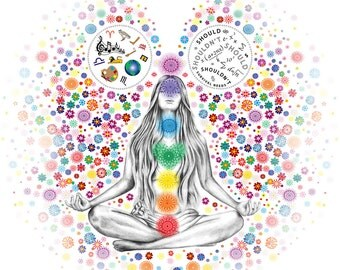 "Chakra Girl By Stephanie de Dood 2014 This artwork was commissioned by Nanette Abbott for ""New Leaf Kinesiology"""
