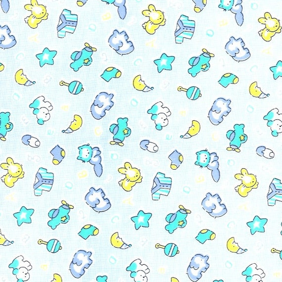Cotton knit fabric baby interlock print fabric stretch for Knit fabric childrens prints