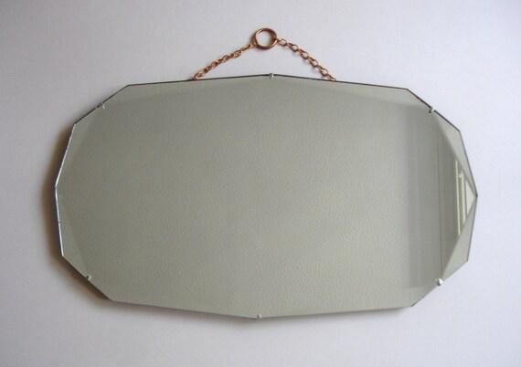 Negli anni 39 30 art deco pensile specchio vintage home - Specchio ovale vintage ...