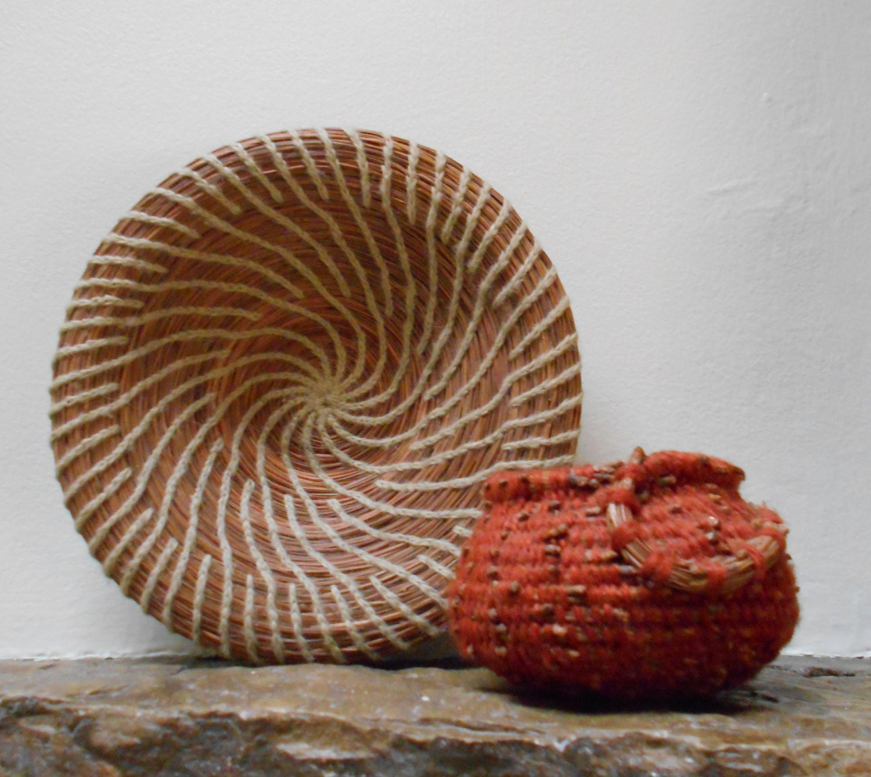 Handmade Pine Needle Baskets : Handmade australian hoop pine needle baskets by