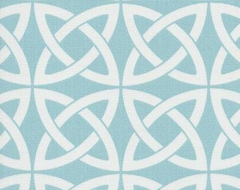Linked In Robins Egg Indoor Outdoor contemporary Fabric