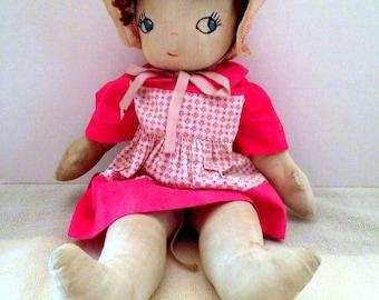 1930s Cloth Doll; All  Original Clothing