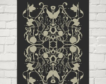 "Abstract Art Print ""Rorschach"""