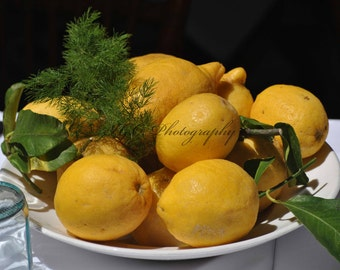Food Photography Lemon Tablescape Cinque Terra Italy