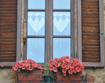 Landscape and Architecture Photography - Italian Village Window with Flowers - Window Photograph - Italian Photography