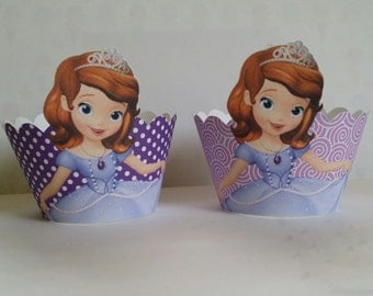 24 Sofia the First cupcake wrappers
