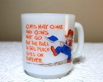 Humorous Glasbake Mug, Funny Mug