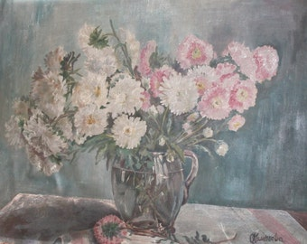 1963 Still life with roses oil painting