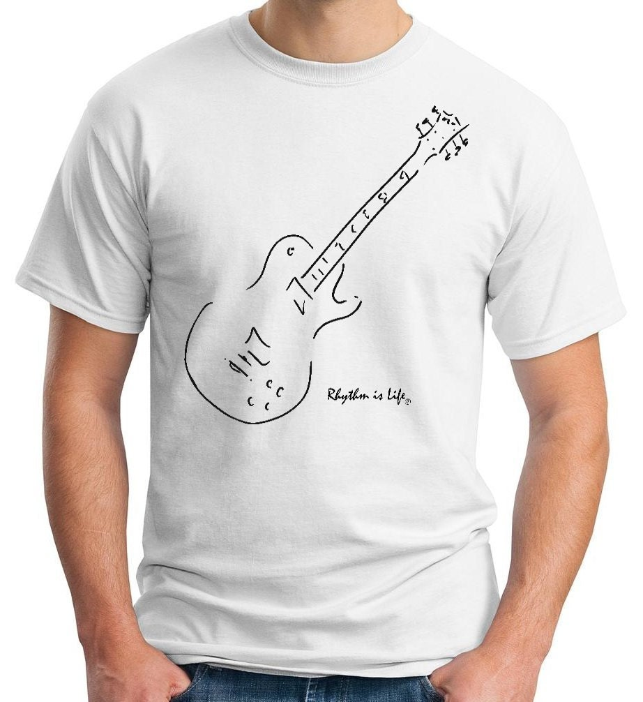 electric guitar t shirt gibson les paul. Black Bedroom Furniture Sets. Home Design Ideas