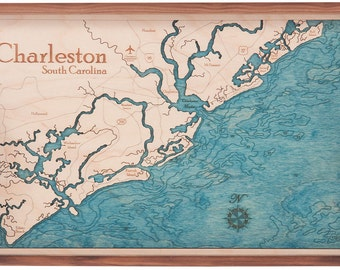 Charleston, South Carolina Serving Tray