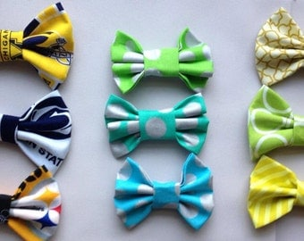 3 for 10.00 Clip on Bow Tie for Boys or Bow Hair Clips for Girls