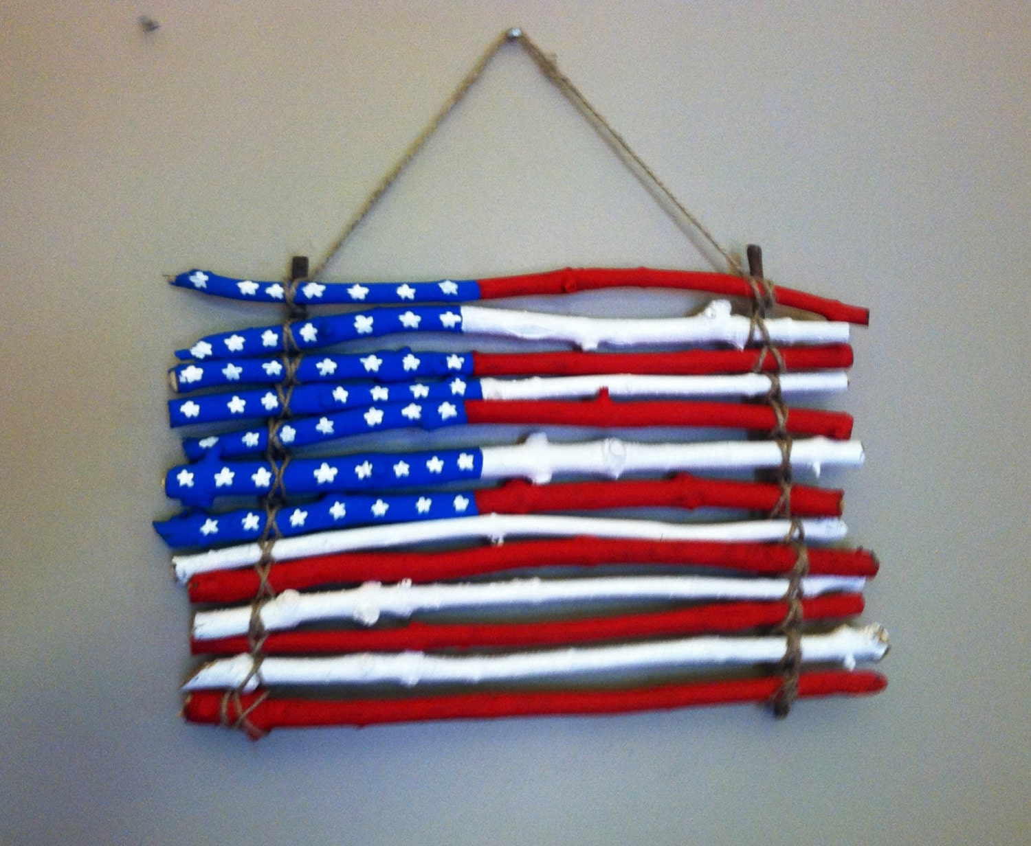 american flag wall hanging by erinsoddsandends on etsy. Black Bedroom Furniture Sets. Home Design Ideas