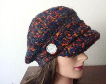 crochet woman cap