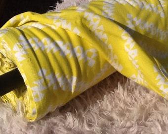 Yellow Zig Zag Rayon Fabric by the Yard, Fabric by the Yard, Yardage