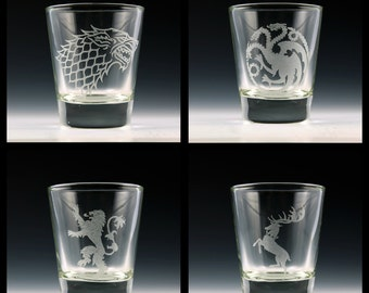 Game of Thrones Shot Glass Set # 1
