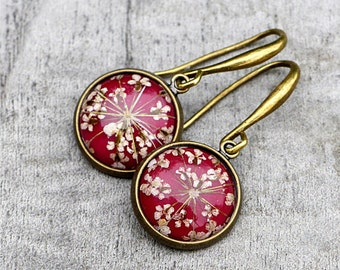Real flowers earrings delicate & feminine
