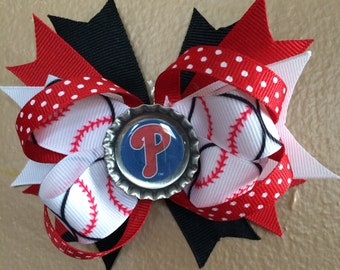 Philadelphia Phillies Hair Bow