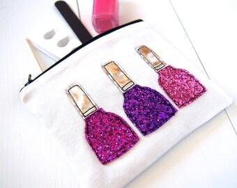 Glitter Nail Polish Pouch/Bag