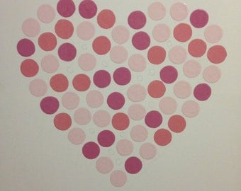 Handpainted Dot Heart Picture