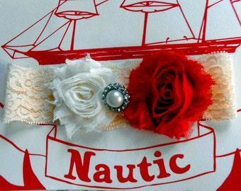 Sale red wedding garter, CHRISTMAS GIFT, liga de matrimonio hecho a mano, jarretiere mariage